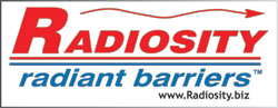 Radiosity Radiant barriers save energy by decreasing heat load in buildings.